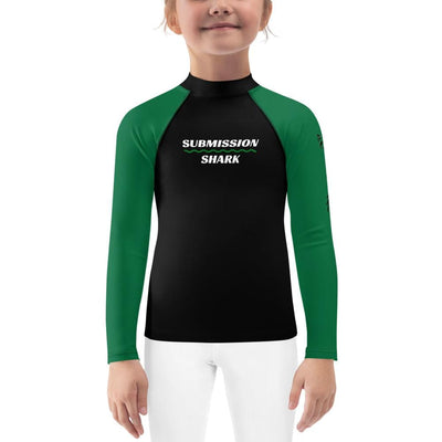 Kid's Green Rash Guard (Green SS Premium Standard)