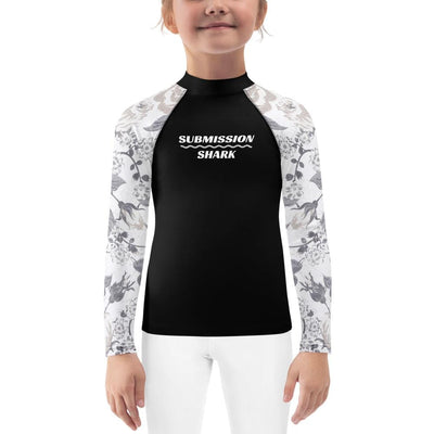 Kid's Silver BJJ Rash Guard (Elegant Knight)
