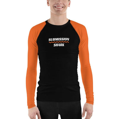 Men's Orange BJJ Rash Guard (Orange SS Premium Standard)