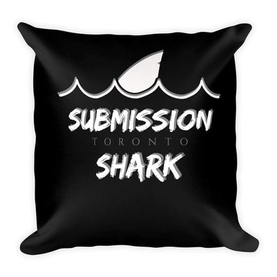 Submission Shark's Wavy Black Square Pillow - tamlifestyle