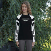 Ranked 1.0 (White) Women's Compression Shirt | Submission Shark Rashguard Front