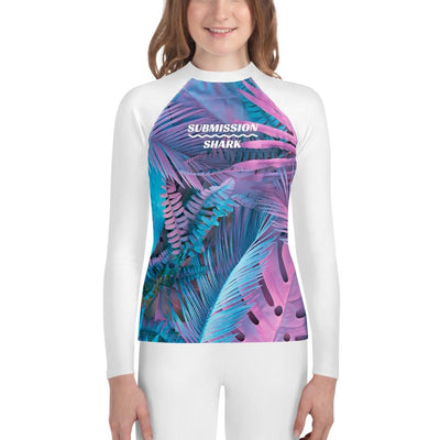 Cotton Candy Crush - Girls Youth Rash Guard