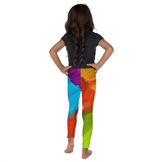 Colorful Artist Kid's Leggings | Submission Shark Back
