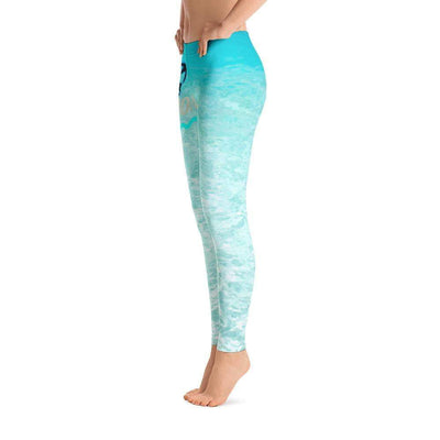 Ocean Paradise Leggings | Submission Shark - tamlifestyle