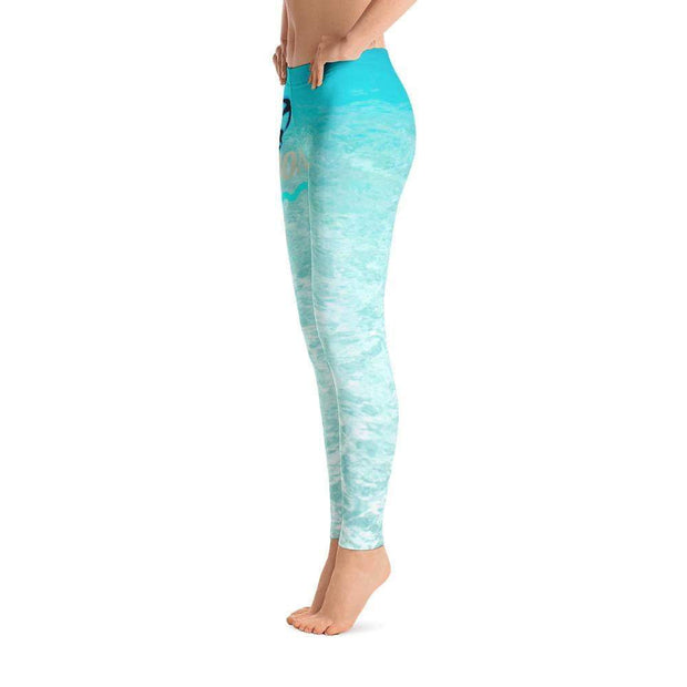 Ocean Paradise Leggings | Submission Shark Left