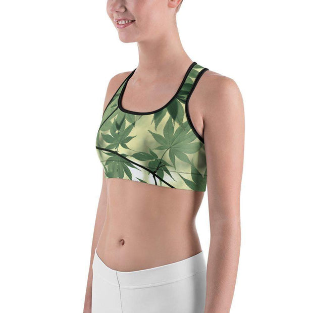 Legalize Leaf Sports bra | Submission Shark Left