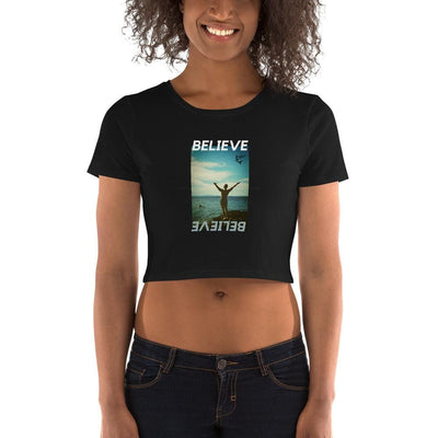 Believe | Women's Crop Tee | Submission Shark