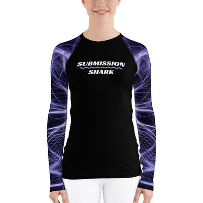 Neuron Energy ~ Women's Purple BJJ Rash Guard