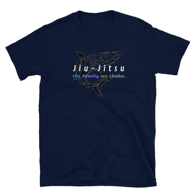 The Family We Choke Navy Jiu-Jitsu T-Shirt | Submission Shark