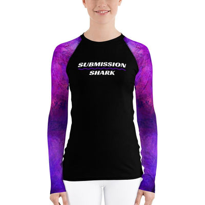 Violet Psionic ~ Women's Rash Guard (Submission Shark BJJ Gear)