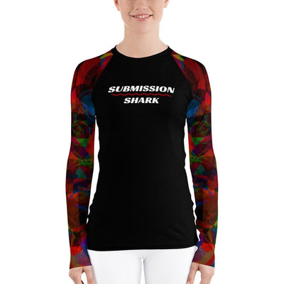 Women's Submission Shark BJJ Rash Guard (Different Dimensions)