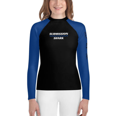 Blue SS Premium Standard - Youth BJJ Rash Guard