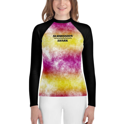 Joyful Jubilee - Yellow and Pink Youth Rash Guard