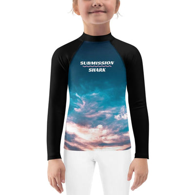 Aquatic Skies ~ Kids BJJ Rash Guard
