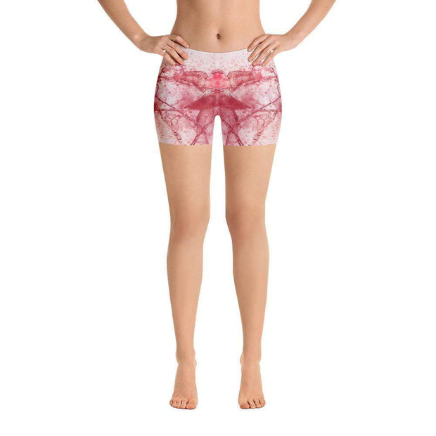 Coral Birds Sports Shorts | Submission Shark Front