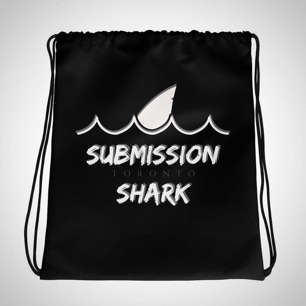 Submission Shark's Wavy Black Drawstring Gi bag