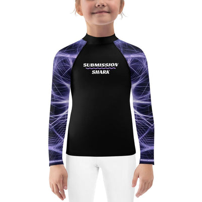 Kids Purple BJJ Rash Guard (Neuron Energy)