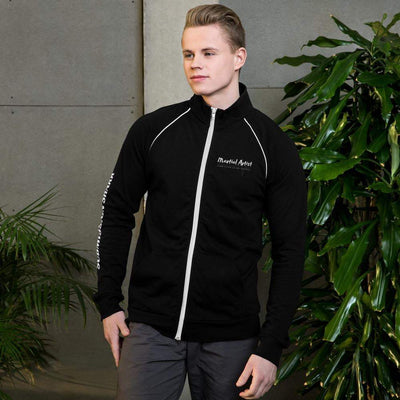 Submission Shark's Martial Artist Piped Fleece Jacket - tamlifestyle
