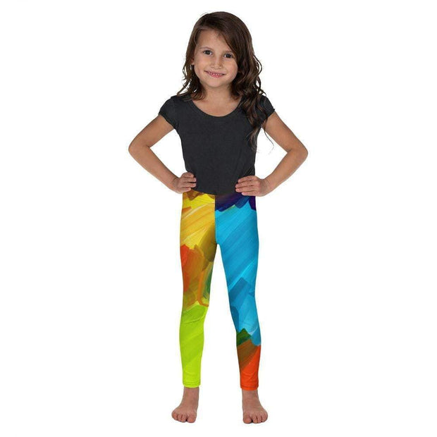 Colorful Artist Kid's Leggings | Submission Shark Front