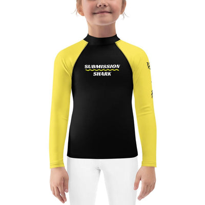 Yellow SS Premium Standard (Kid's BJJ Rash Guard)