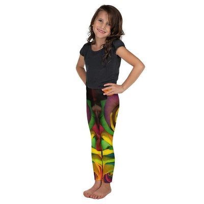 Rainbow Roses Kid's Leggings | Submission Shark Left