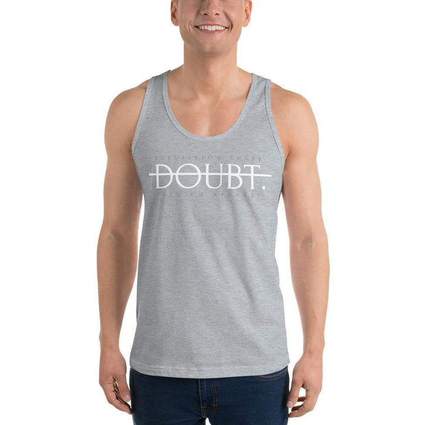 Submission Shark's No Doubt Classic tank top (unisex) | Motivational Apparel Light Grey