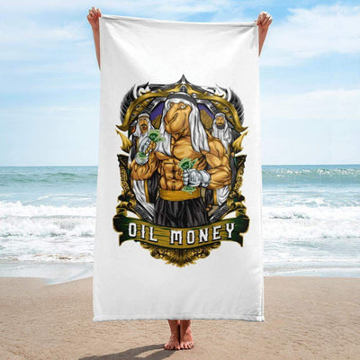 Oil Money Beach Towel