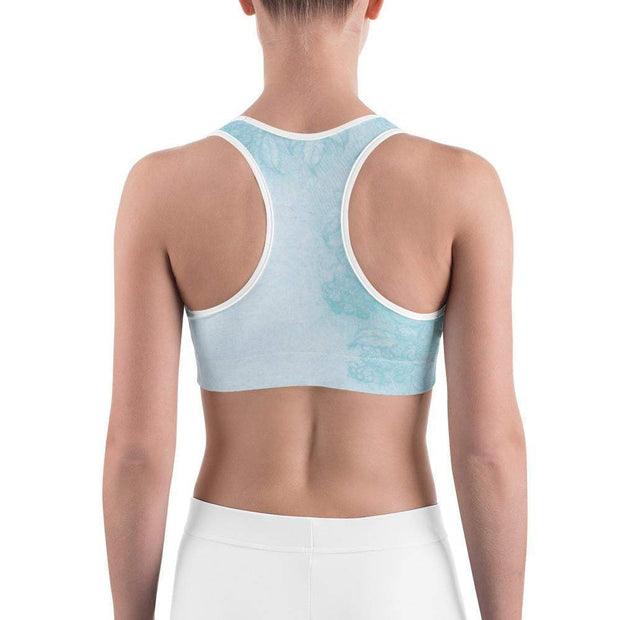 Baby Blue Beauty Sports bra | Submission Shark Back