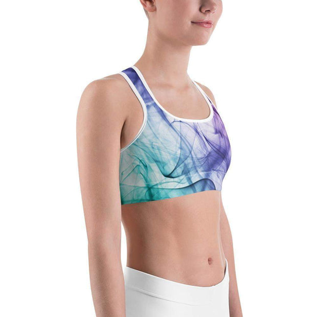 Euphoric Vapor Sports bra | Submission Shark White Right