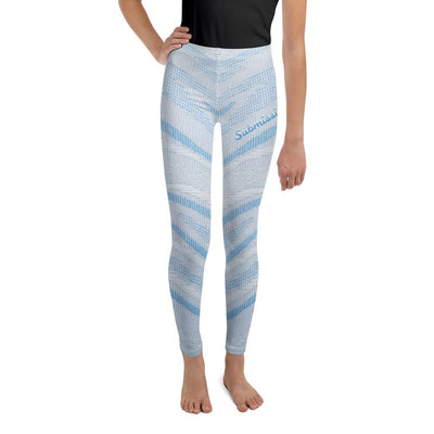Arctic Air - Blue and White Youth Leggings