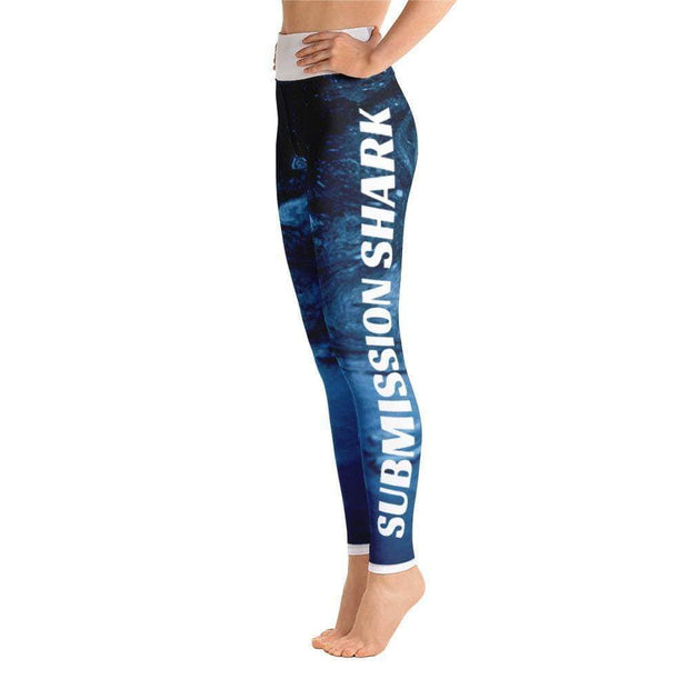 Ice Magma Yoga Leggings | Submission Shark Left