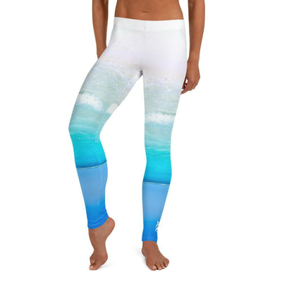 White and Blue Leggings (Beach Paradise)