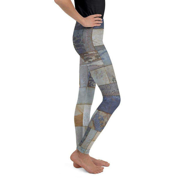 Marble Tile Youth Leggings | Submission Shark - tamlifestyle