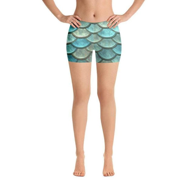 Mermaid Maiden | Blue Sports Shorts | Submission Shark - tamlifestyle