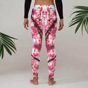 Morning Love Leggings | Submission Shark Pink and White Pants