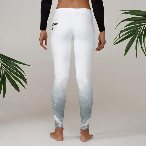 Mountain Mystery Leggings | Submission Shark White Compression Pants