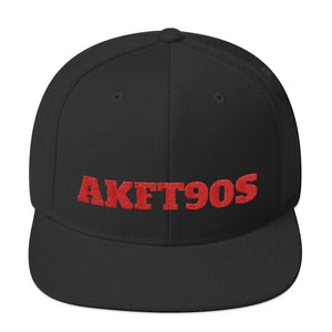 Black hat with read letters AKFT90s