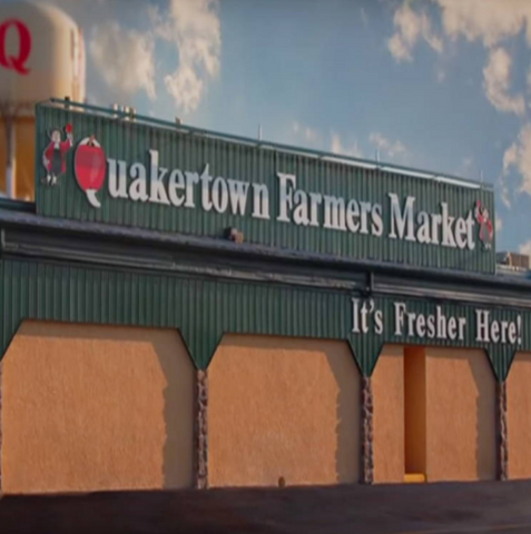 outside view of the quakertown farmers market | meal kit delivery