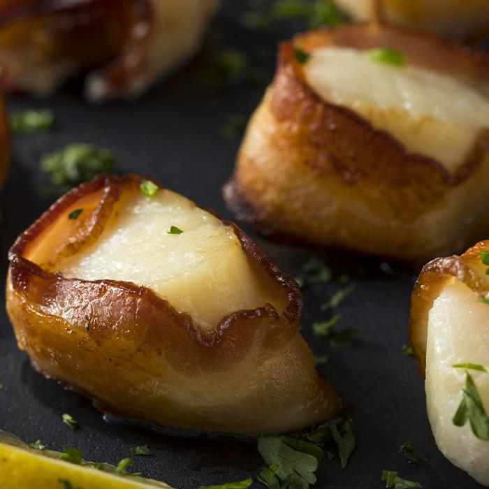 8 Pack - Bacon Wrapped Scallops
