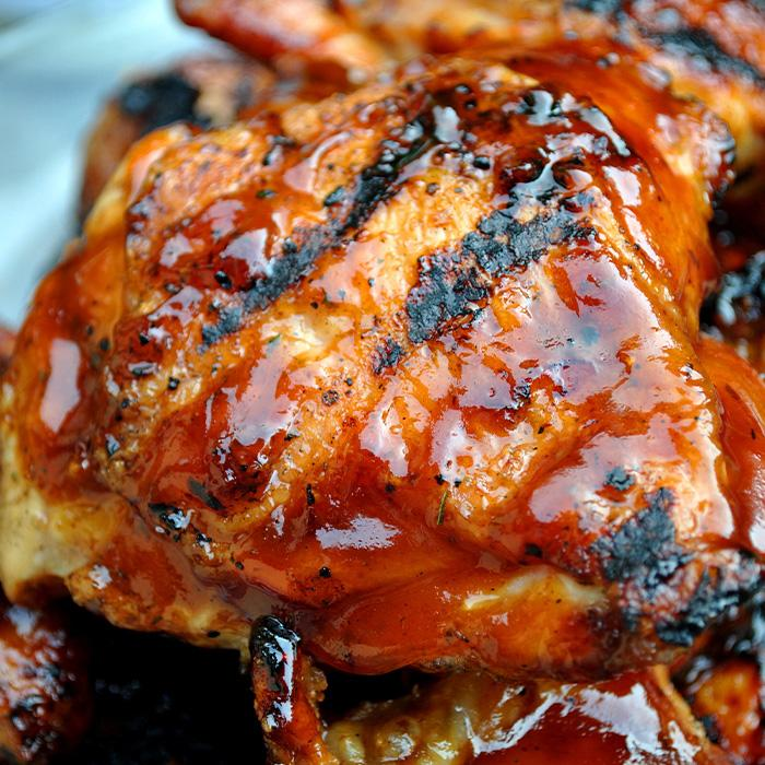 BBQ Grilled Chicken Thighs