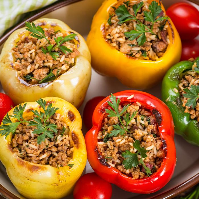 Turkey Overstuffed Peppers
