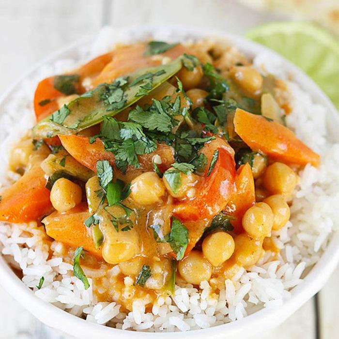 Veggie Chickpea Curry (Vegan)
