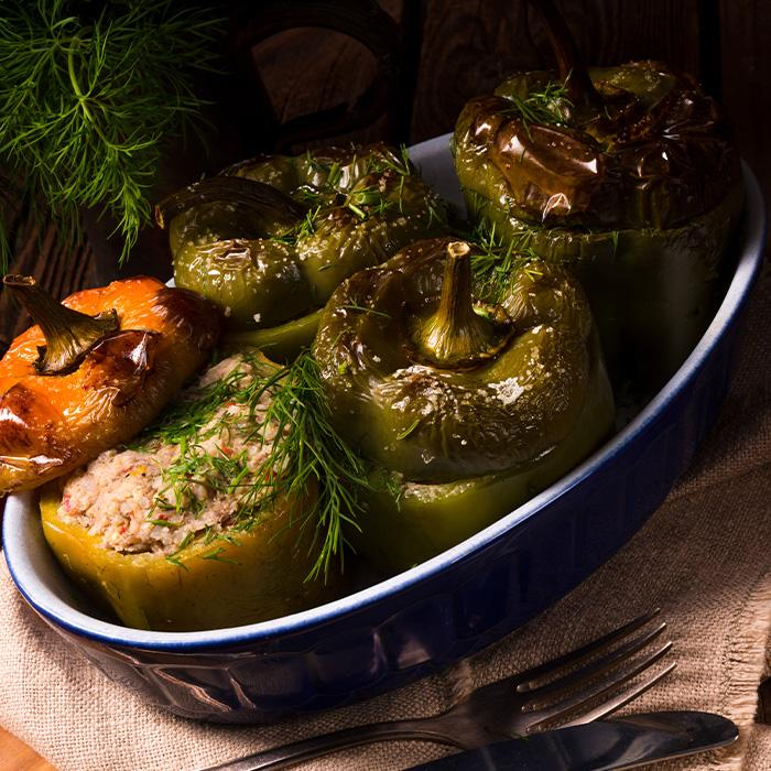 Veggie Overstuffed Peppers (Vegan)