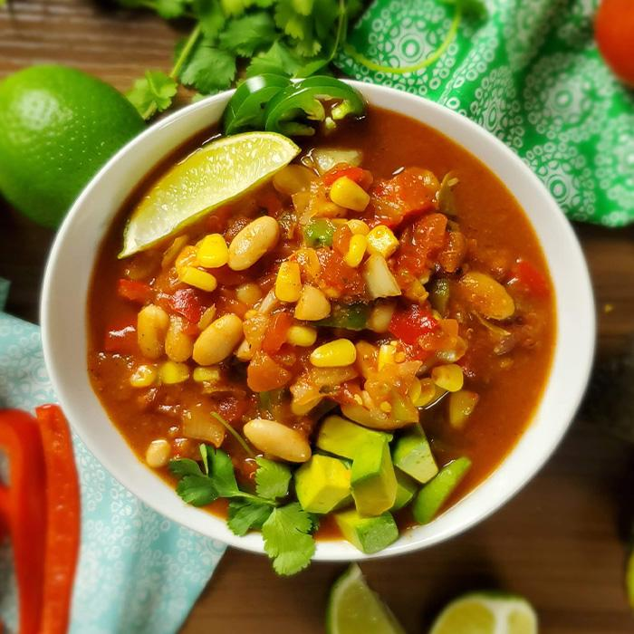Veggie White Bean Chili (Vegan)