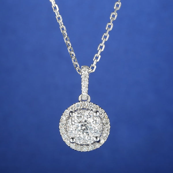 3 Carat Effect Diamond Pendant