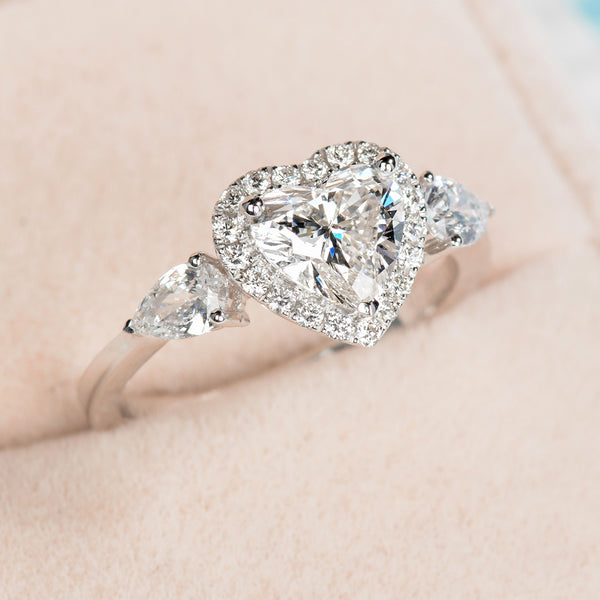Beautiful heart shaped ring