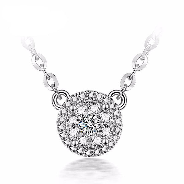 1 Carat Effect Diamond Necklace - Hearts & Diamonds