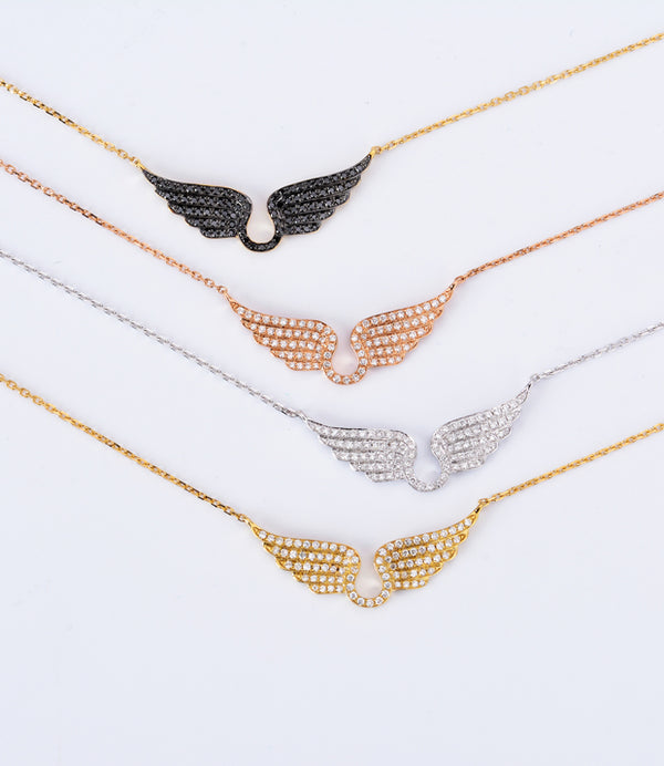 -NEW2018- Diamond Wings Pendant Chain - Hearts & Diamonds