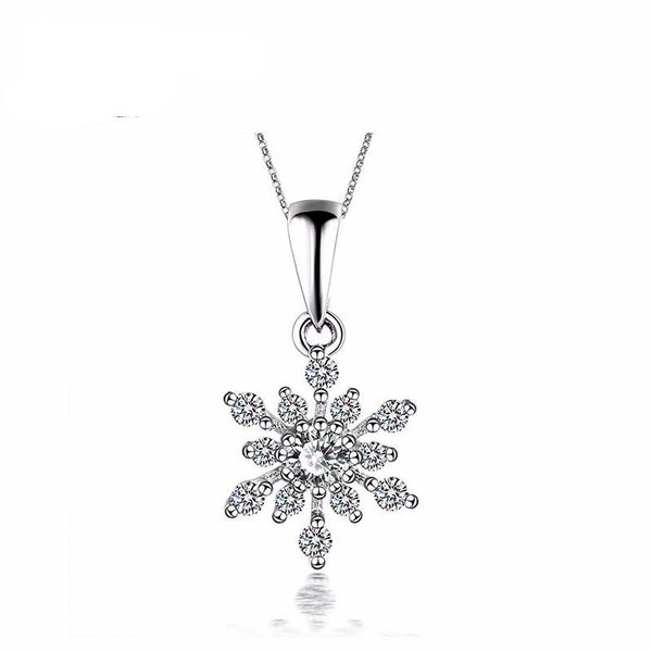 Snowflake Diamond Pendant - Hearts & Diamonds