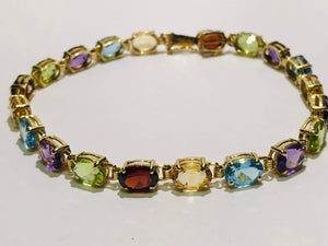 14k Gold Multi-Gem Bracelet